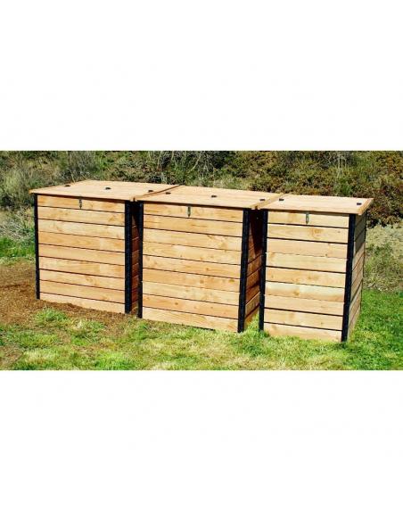 Set aus 3 Trockentoiletten-Kompostern (3.200 Liter) aus Douglasie - Lécopot