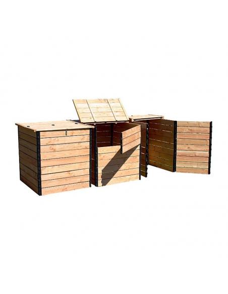 Pack 3 Composteurs toilettes sèches 4800 litres Douglas