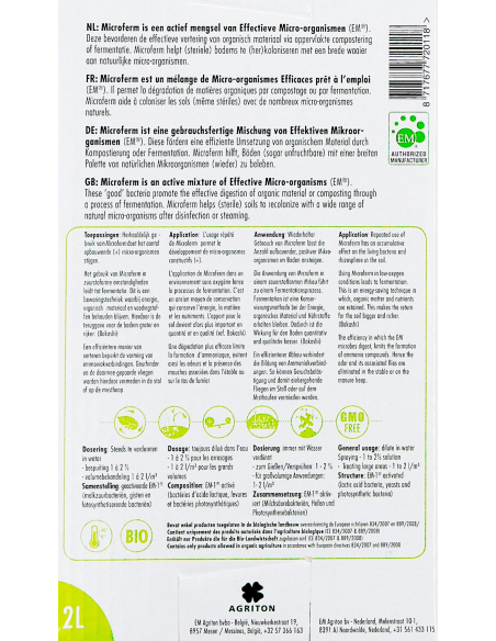 Activateur de compost MicroFerm à base de micro organismes efficaces