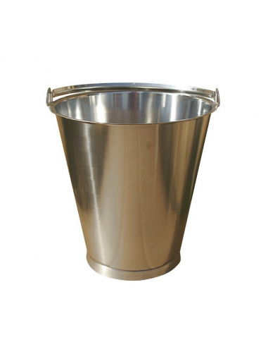 15L stainless steel bucket with plinth - dry toilets