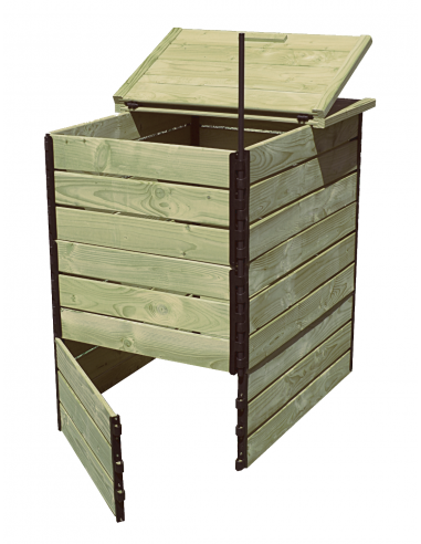 Compostador de 800 litros pino autoclave