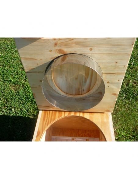 Bavette inox pour toilette sèche