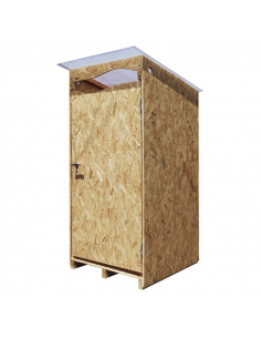 La Ventarèl – OSB outdoor cabin for dry toilet