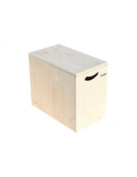 Holzbox für Sägespäne mit  Deckel