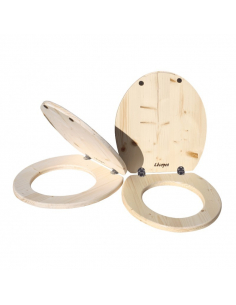 dry toilet seat and lid set