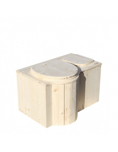 Le Butterfly - Dry toilet with sawdust wood shaving container