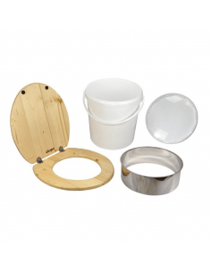Complete self-builder compost toilet set with plastic bucket