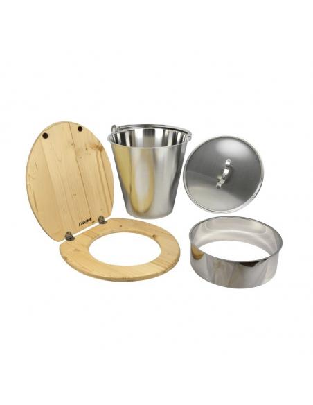 Komplettes Trockentoiletten-Selbstbauset mit Edelstahleimer - Lécopot