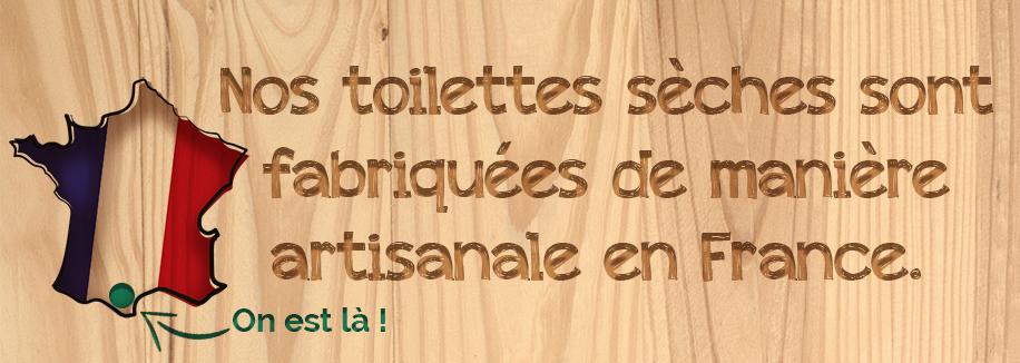 Toilettes fabriquées de manières artisanale en France